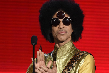 Prince speaks onstage during the 2015 American Music Awards at Microsoft Theater on November 22, 2015 in Los Angeles, California (Getty)