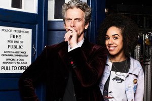 Peter Capaldi and Pearl Mackie in a promotion shot released by BBC (supplied)