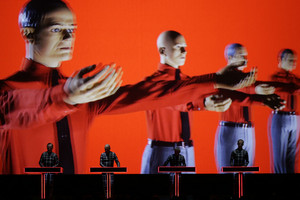 Kraftwerk performs on stage in Switzerland (Reuters)