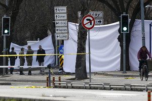 The entrance of a street leading to the site of an explosion in Ankara in February (Reuters)