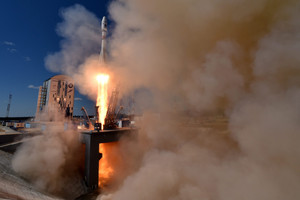 A Russian Soyuz 2.1a rocket lifts off from the new Vostochny cosmodrome (AAP)