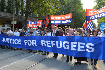 The Nauru centre has sparked protests over refugee rights and welfare (Getty)