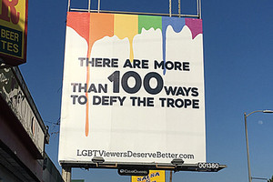 LGBTVDB designed and crowd-funded for four full-sized billboards in LA (Supplied / LGBTVDB)