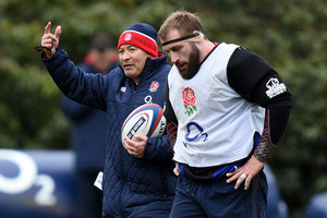 Eddie Jones and Joe Marler (AAP)
