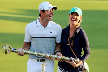 Rory McIlroy and partner Erica Stoll (AAP)