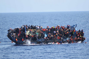 Most were rescued from the water, but five bodies were also recovered (Reuters)