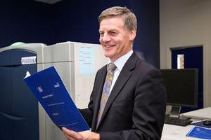 Bill English presents Budget 2016 (Getty)