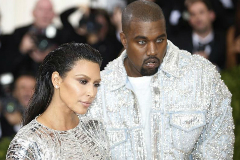 Kim and Kanye West at the Met Gala 2016 (Reuters)