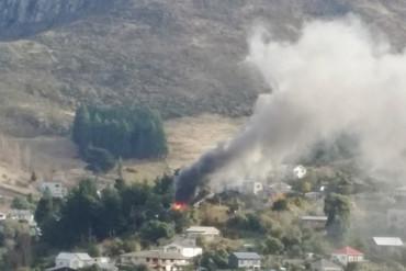 The fire as seen from across Lyttelton Harbour (Darren Mead)