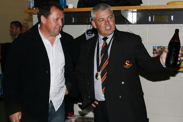 Ian Foster talks with Warren Gatland (Photosport)