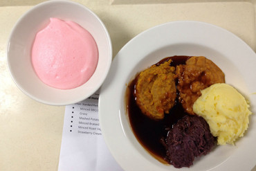 The 'minced and moist' option served to patients who can't swallow solids (Dave Goosselink)