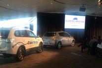 Electric Vehicles on display at the announcement today (Nina Burton / Newshub)