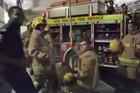 NZ firefighters join Running Man Challenge