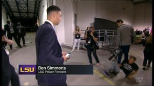 Ben Simmons unfazed by cameraman fail