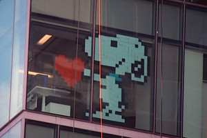 Post-it note art beautifying Auckland buildings