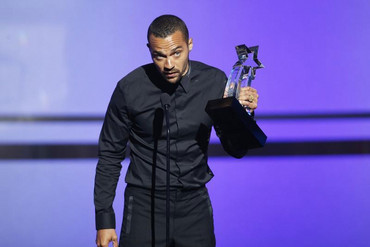 Actor Jesse Williams accepts the Humanitarian Award during the 2016 BET Awards in Los Angeles (Reuters)