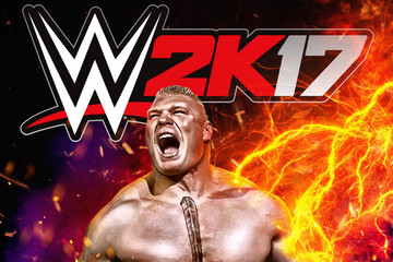 Brock Lesnar on the cover of WWE 2K17