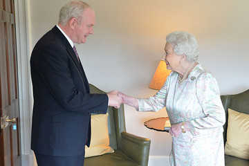Martin McGuinness and the Queen (AAP)