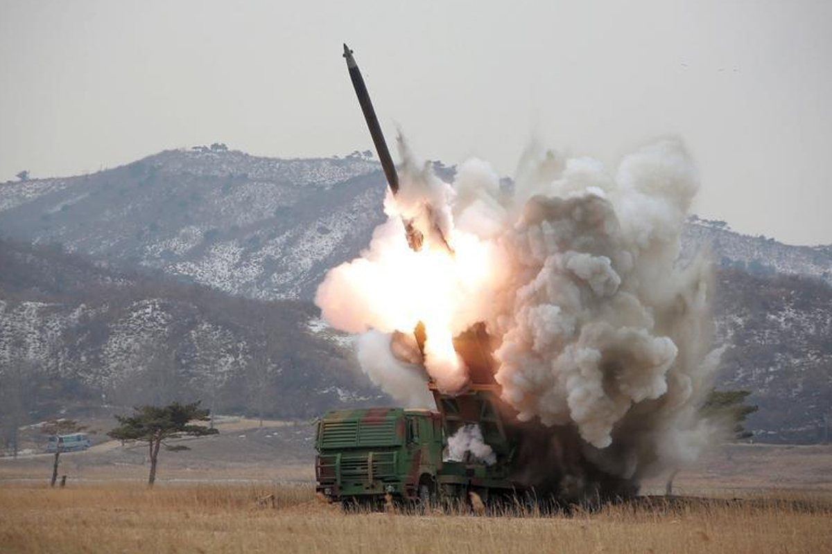 N.Korea Fires Missiles into East Sea