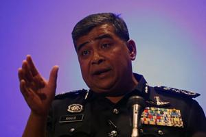 Malaysia's police chief, Inspector General Khalid Abu Bakar (Reuters)
