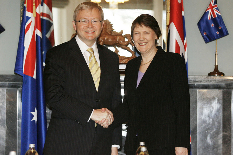 Kevin Rudd and Helen Clark in 2008 (Reuters)