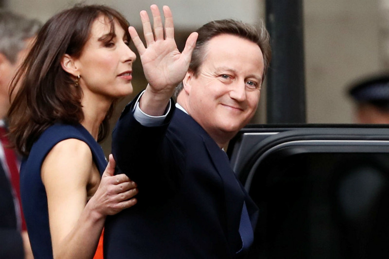 David Cameron waves goodbye to his job as Prime Minister (Reuters)