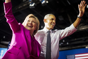 Hillary Clinton and Barack Obama (Getty)