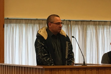 Noel Erickson was sentenced in Huntly District Court (Briar Marbeck / Newshub.)