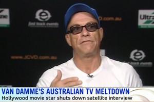 Jean-Claude Van Damme storms out of Australian interview
