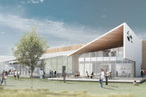 The artist impression of the new building (UCSA)