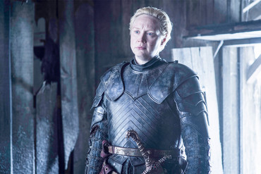 Gwendoline Christie as Brienne of Tarth in Game of Thrones season six (HBO)