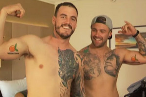 Dyls and Dylz show off their tattoos (Newshub.)