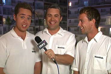 Newshub reporters Jeff McTainsh, Jacob Brown and Lewis Hampton