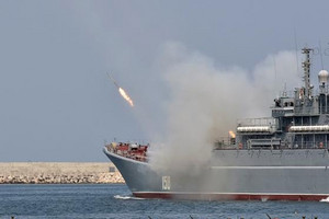 Russia's three cruise missile launches were its first against targets in Syria from the Mediterranean (Reuters)