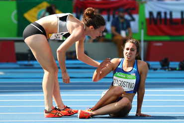 New Zealand's Nikki Hamblin and American Abbey D'Agostino (Getty file)