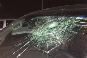 Video: Baseball player shatters his own car windscreen with grand slam hit