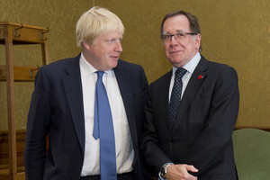 Boris Johnson and Murray McCully (Reuters)