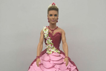 Ken Doll cake (Freeport Bakery/Facebook)