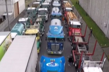 The trucks (Newshub.)