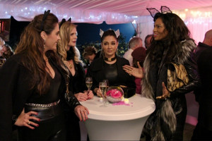 Michelle vs Angela at the Real Housewives of Auckland pussy party
