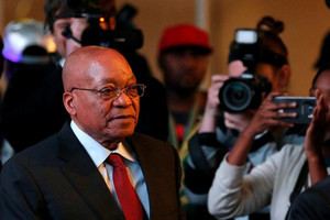 South Africa's President Jacob Zuma arrives for the official announcement of the munincipal election results at the result centre in Pretoria, South Africa (Reuters)