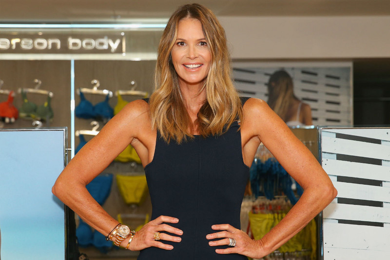 Elle Macpherson at her lingerie launch in Australia (Getty)