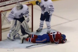 Video highlights: Antoine Bibeau likes his personal space