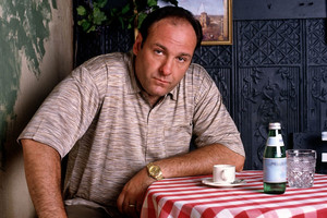 James Gandolfini as Tony Soprano from list-topping TV show The Sopranos