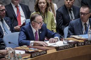 John Key chairing the UN Security Council meeting in New York (supplied)