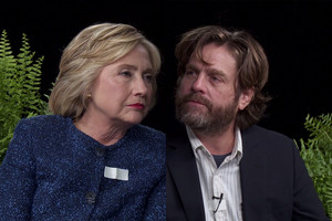 Hillary Clinton and Zach Galifianakis on Between Two Ferns
