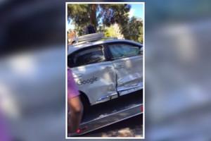 Google car crash (CBS)