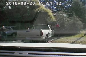 Police dash cam footage of Keith Scott being fatally shot