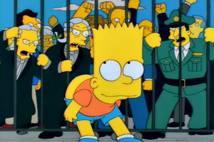 While Bart Simpson ultimately avoided punishment, it might not be the same for any Australian who copies him