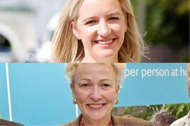 Wellington mayoral candidates Jo Coughlan (top) and Nicola Young (Newshub.)
